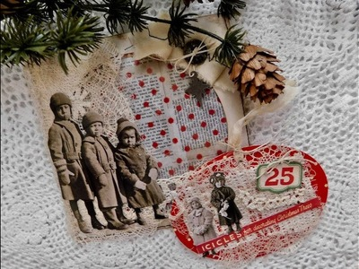 Easy Gift Giving Ideas - Altered CD Sleeve & Altered Tag Tutorial.Process Video