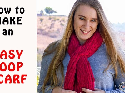 Easy Loop Scarf - Made with Loop Yarn