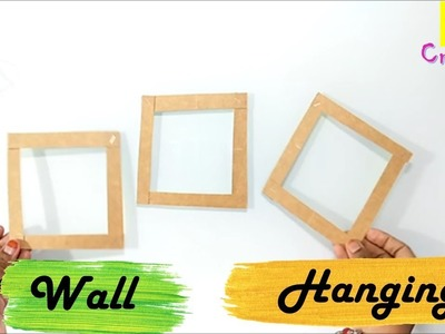 Easy wall hanging idea from waste material | Best out of waste |budget decor |reuse of cereal box
