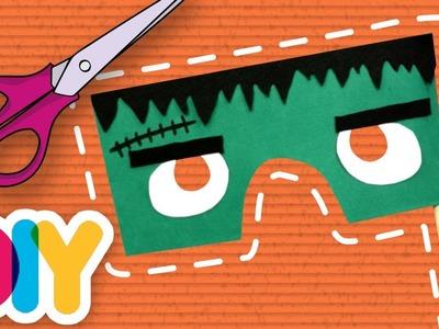 Fast-n-Easy   Frankenstein Mask HALLOWEEN PAPER CRAFT   DIY Arts & Crafts for Kids