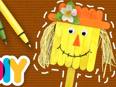 Fast-n-Easy   SCARECROW  Popsicle Craft   DIY Arts & Crafts for Kids