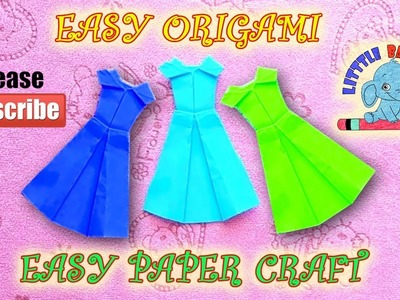 Frock Paper Craft | Easy Paper Frock | How to Make Paper Frock | Easy Origami