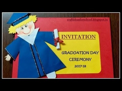 Graduation day invitation card for kindergarten