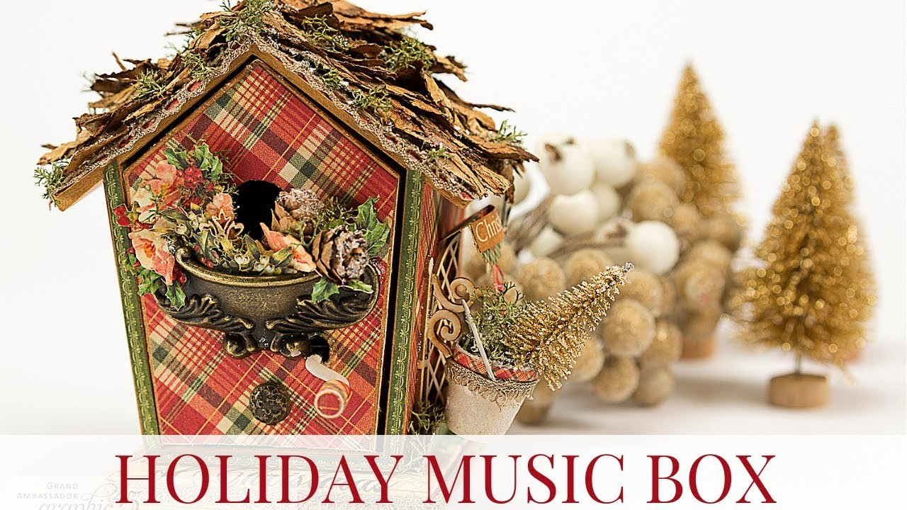 Holiday Music Birdhouse Box by Tati Scrap for Graphic 45 Featuring Twelve Days of Christmas