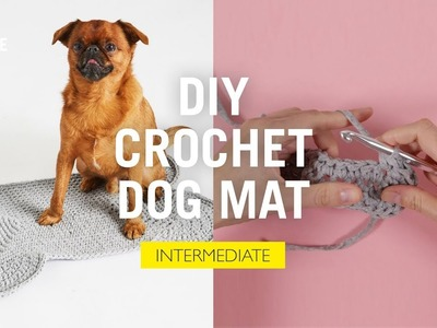 How to Crochet: DIY Dog Mat (Free Pattern)