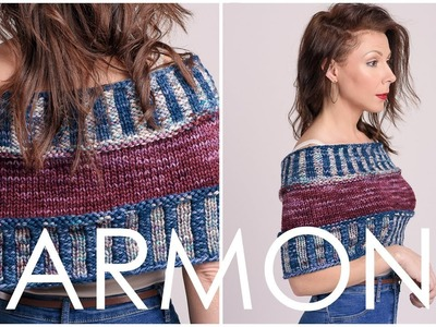How to Knit - Harmony Shrug + Learn Corrugated Ribbing!