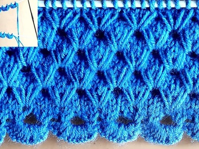 How To Knit Upon Wavy Cast on. Beautiful Pattern For Cardigans, Pullovers, Sweaters and Jackets