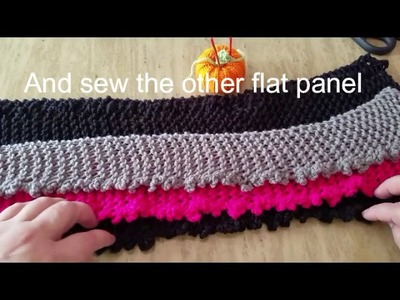 How to loom knit a Skirt step by Step, tutorial
