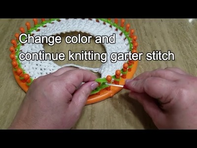 How to loom knit a stocking hat, elf hat, scarf hat