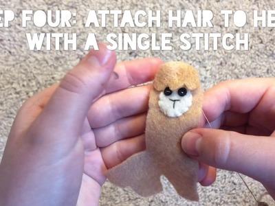 How to make a Felt Llama