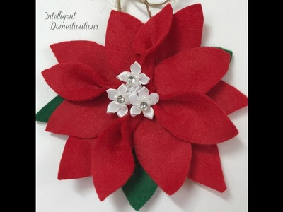 How To Make A Felt Poinsettia Ornament