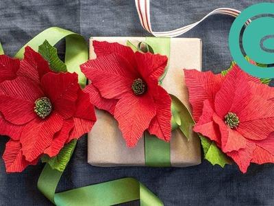 How to Make a Heavy Crepe Paper Poinsettia - Winter Garden Pack Starter Flower