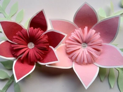How to make a paper flowers - paper art design and origami flowers