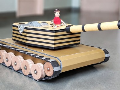 How to Make a RC Battle Tank with Auto load bullets & Fire