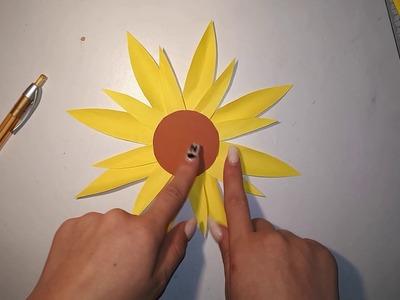 How to make a Sunflower. ( Si te bejme nje Luledielli ) || Me Mua ||
