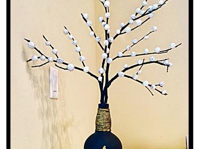 How to make Aluminum foil tree.unique flower vase  idea using aluminum foil. fashion pixies
