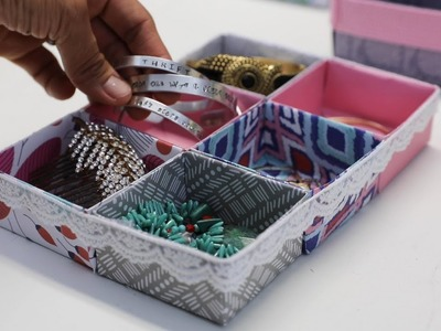 How to Make DIY Drawer Organizers Out of Scrapbook Paper - DIY Crafts - Thrift Diving