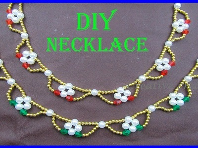 How to make easy Necklace at home