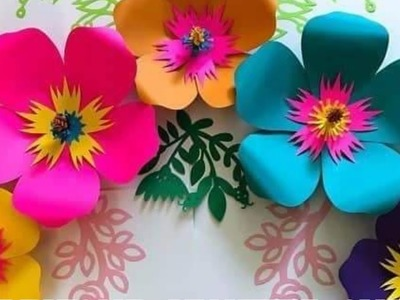 How to make Giant Paper Flowers for Wall DIY Backdrop Decoration Tutorial for Wedding