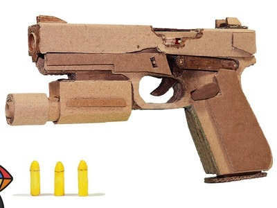 How to Make Glock P18C from Cardboard