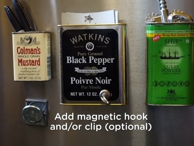 How to Make Mini Kitchen Organizers out of Empty Spice Tins
