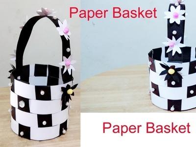 How to make paper basket. Paper basket making. Diy paper basket. Best out of waste. Creative Art