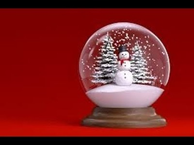 ❄how to make Snow Globe❄