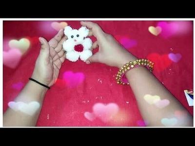 How to make teddy bear and pom pom | best gift