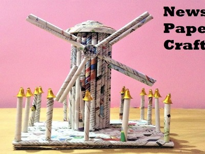 How to make windmill model for science exhibition using newspaper at home easily