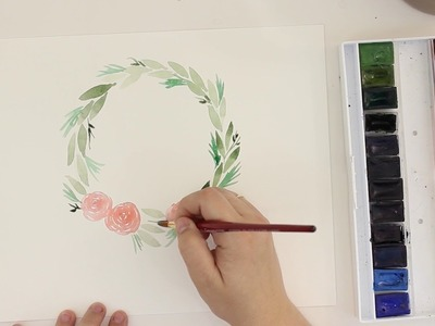How To Paint A Holiday Watercolor Wreath