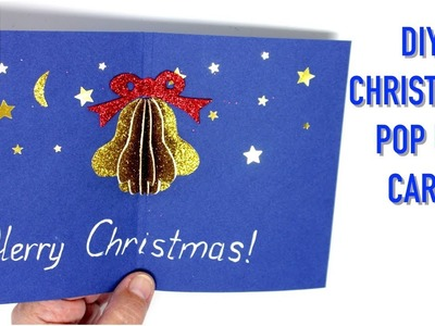 Ideas for Christmas Bell Pop Up Card Making - Art and Crafts