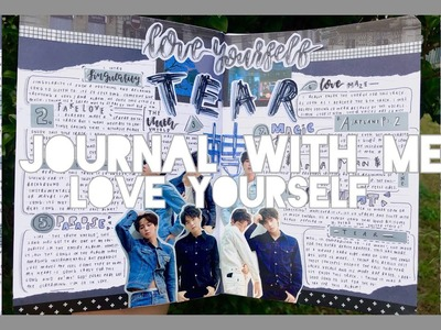 K-pop journal with me - love yourself: tear collab! *:・゚✧