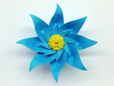 Make Paper Flowers Step by Step - How to Make Easy Paper Flower - DIY Paper Craft