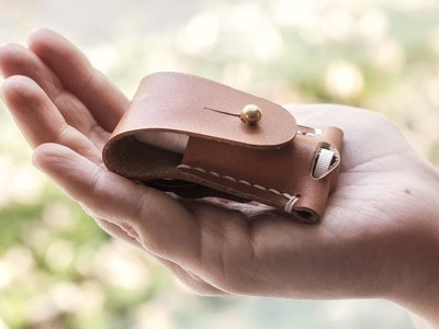 Making a Leather Lip Balm Case