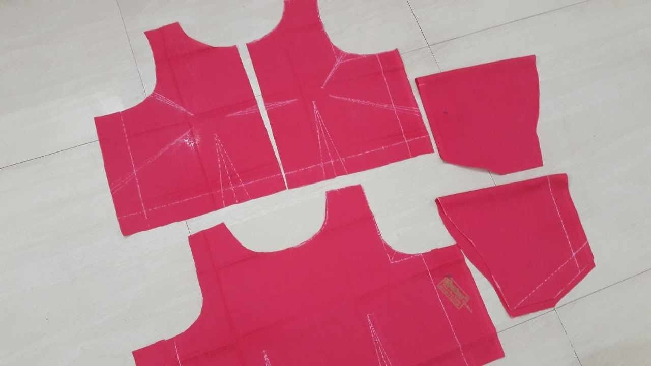 Measurement And Cutting Of Simple Blouse With Boatneck   Easy Method