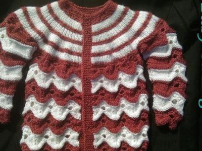 New Baby Cardigan knitting