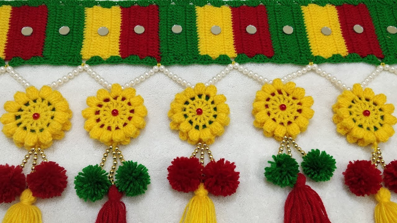 New Design Crochet Toran Bandanwaar Door Hanging