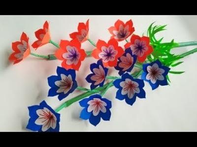 Paper flower stick 9 - How to make beautiful flower stick   DIY stick flower