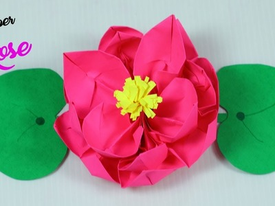 Paper Rose Flower | How To Make Paper Flowers | Paper Crafts | Paper Girl