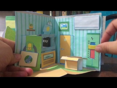 Pop-up Dollhouse. Casita de papel