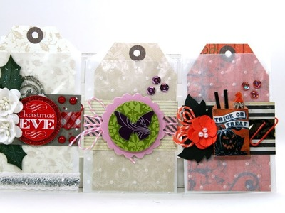 Scrap Your Stash  Embossed Glassine Bag Tag and Gift Card Holder Polly's Paper Studio DIY Tutorial
