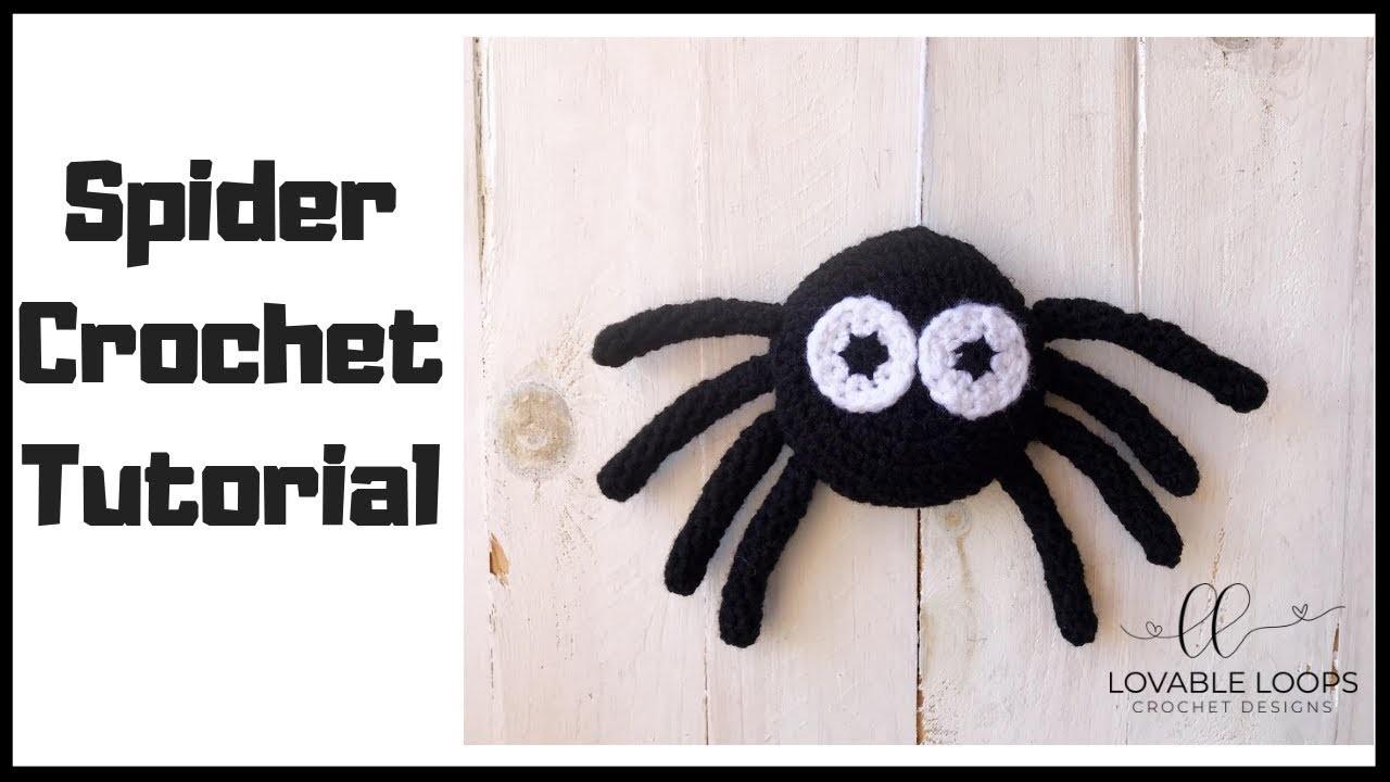 Spider Crochet Tutorial | How to Crochet a Spider | Amigurumi Spider Crochet Pattern Tutorial