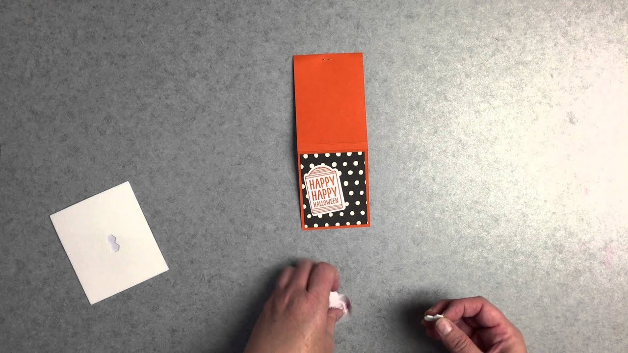 Stampin Up! Halloween Matchbook treat holder