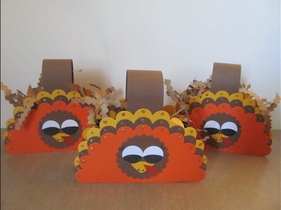 Tags Bags Boxes & Bows #2~ Scallop Turkey Treat. Gift Box