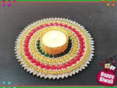 Tea light candle holder   Diwali special decoration   DIY
