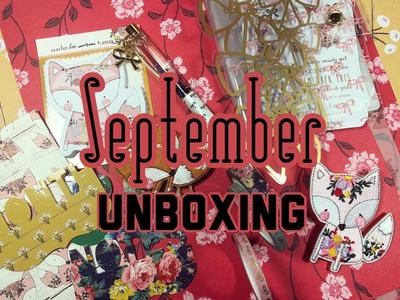 The Planner Society Kit | September 2018 Unboxing | Monthly Planner Subscription Kit