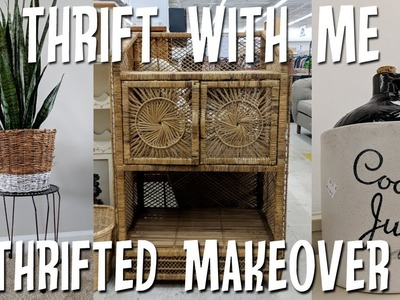 Thrifted Home Decor Makeover+Thrift with Me Salvation Army!
