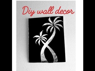 Unique wall hanging crafts. diy room decor ideas. Aluminum foil wall decor. Amazing pixies