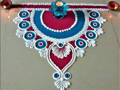Very Simple and Easy Rangoli Designs for Deepawali |Creative Rangoli by Shital Mahajan.