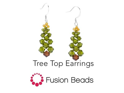 Watch how to create the Tree Top Earrings by Fusion Beads